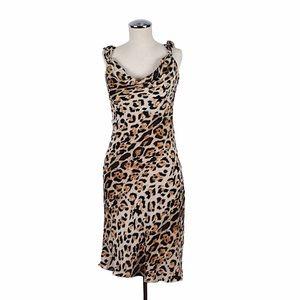 1990's The Limited Silk Leopard Slip Dress Size 6